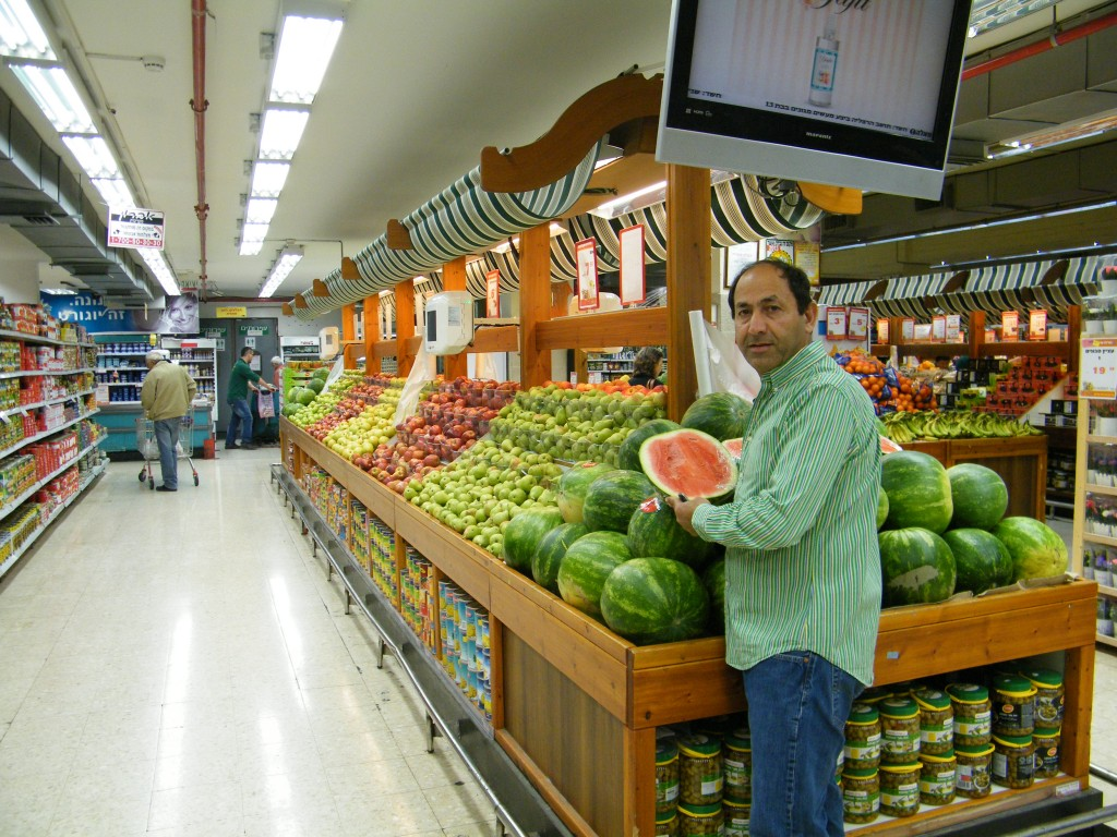 Rami Levy in one of his 26 supermarkets chain