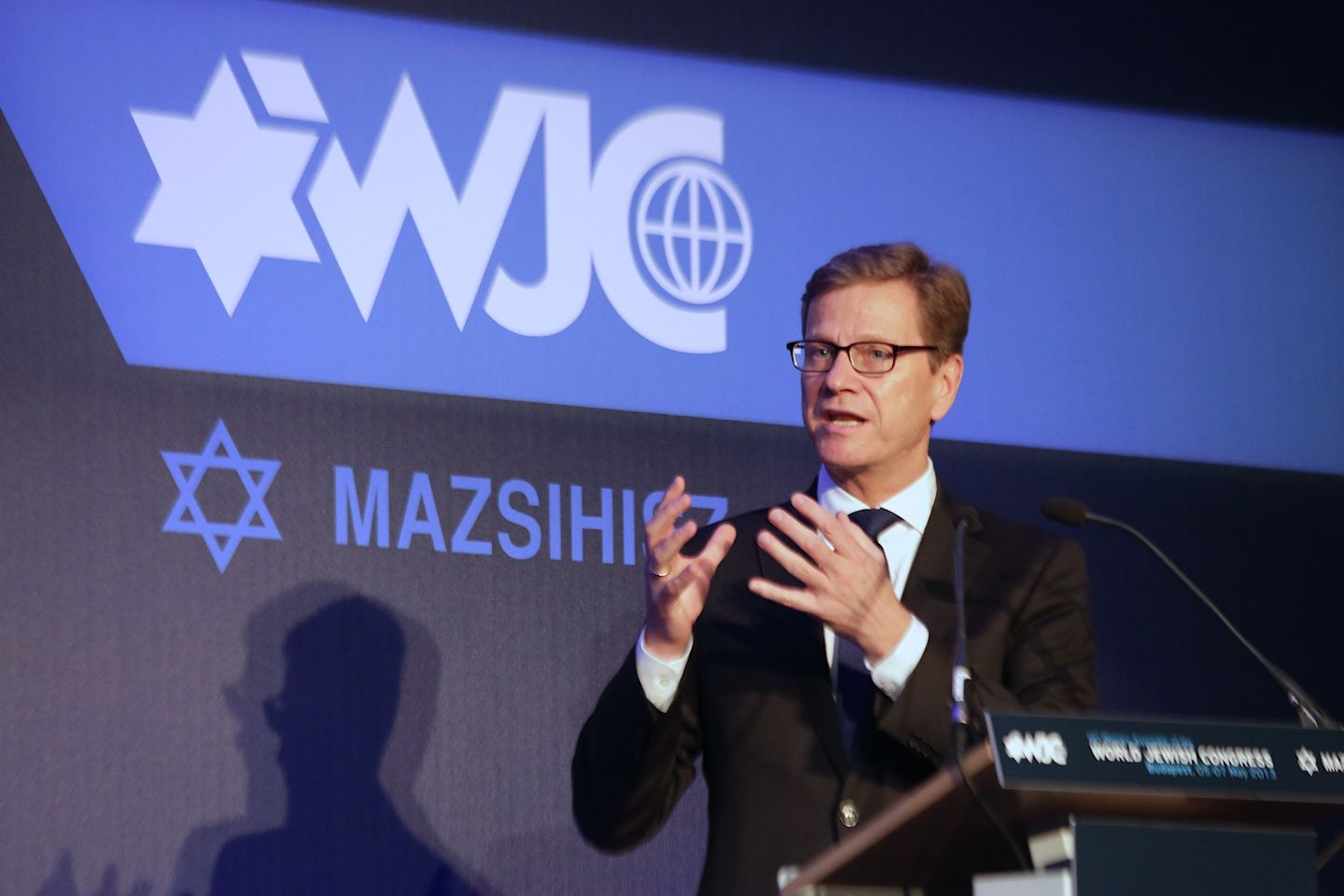 German FM Guido Westerwelle at WJC Assembly