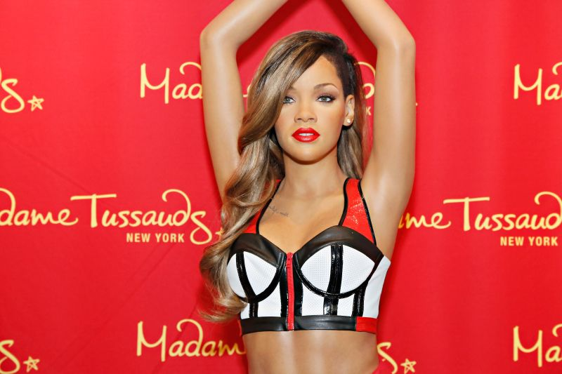 Madame tussauds new york unveils never before seen rihanna for Waxing over tattoo
