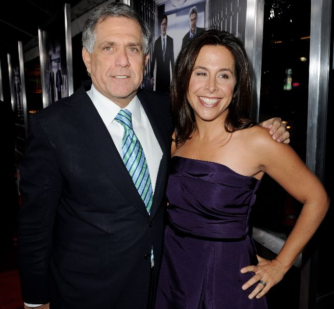 CBS Corporation president and CEO Les Moonves (L) and CBS Films president and CEO Amy Baer