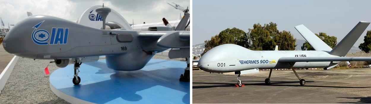 An Israel Aerospace Industries (IAI) Heron (Machatz-1) drone