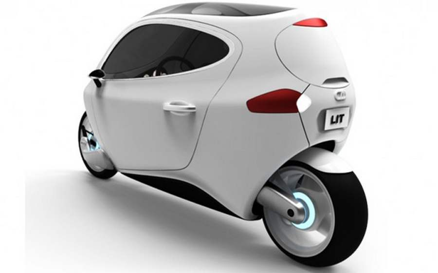 lit motors c 1 two wheeled electric car gets a little push. Black Bedroom Furniture Sets. Home Design Ideas