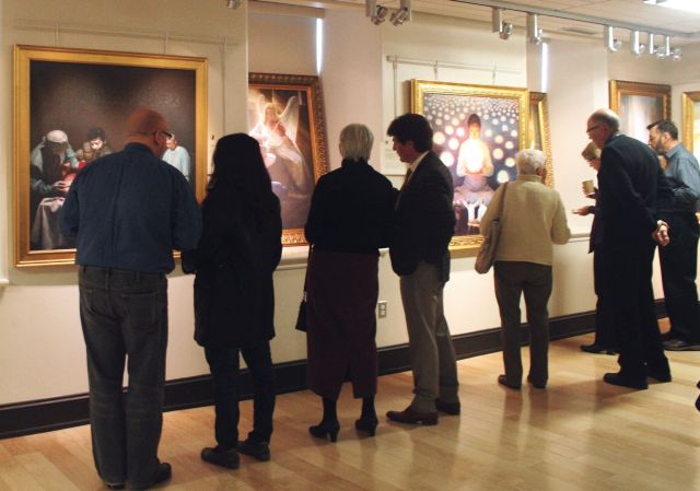 people in ART exhabition