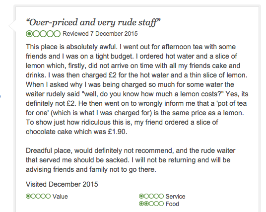 UK Restaurant Manager Uses Brilliant Logic to Shoot Down Complaint