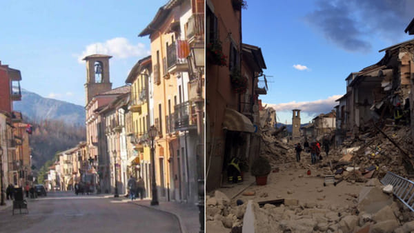 Amatrice Photo the amatrice town in italy, 'not here any more' after strong