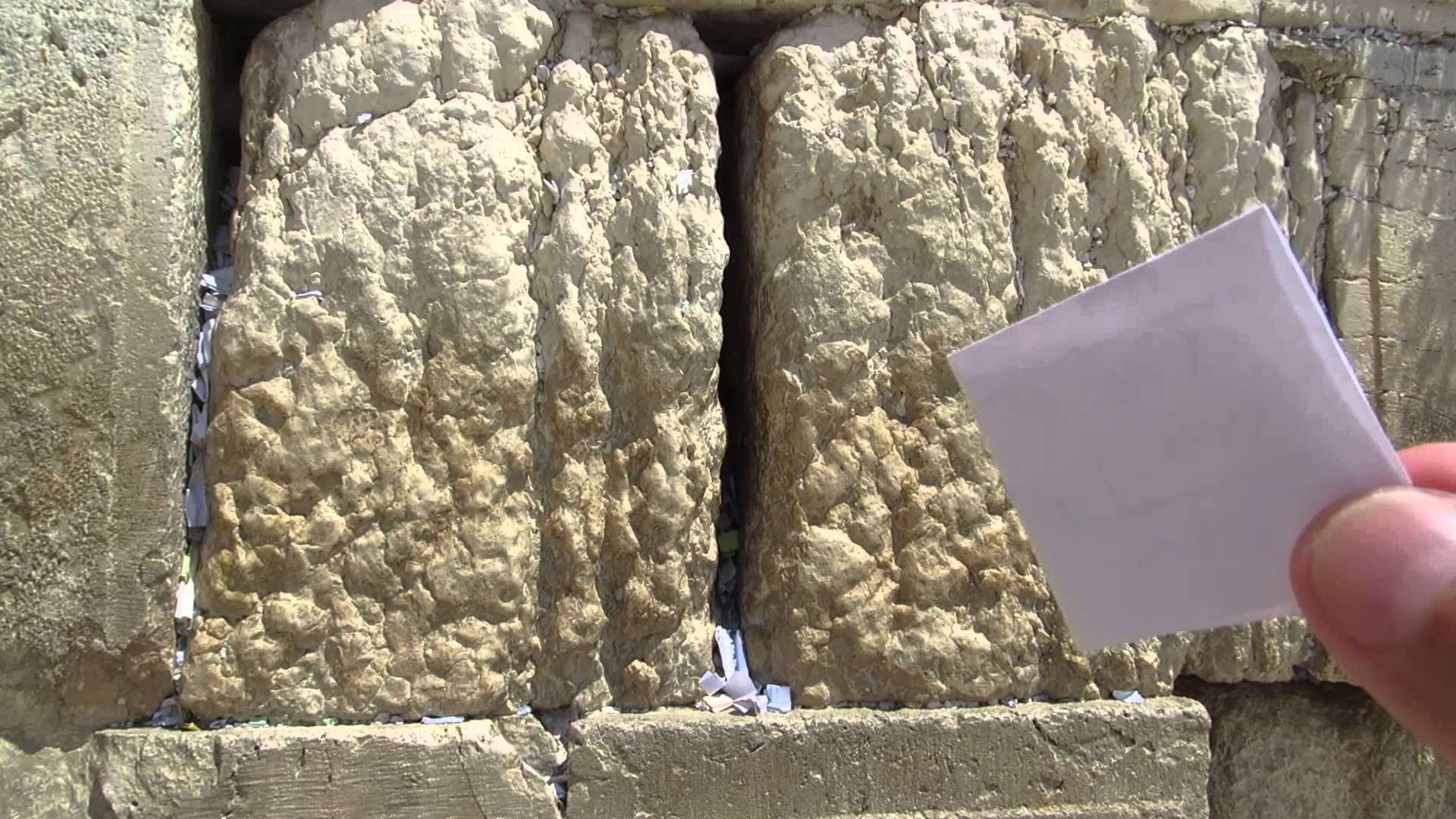 Note In The Kotel Western Wall in Jerusalem - YOUTUBE