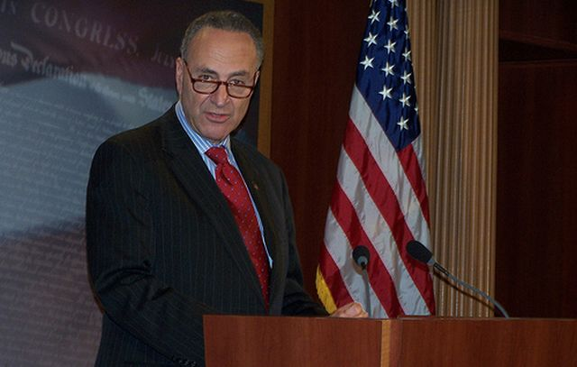 Charles Schumer rallies the troops