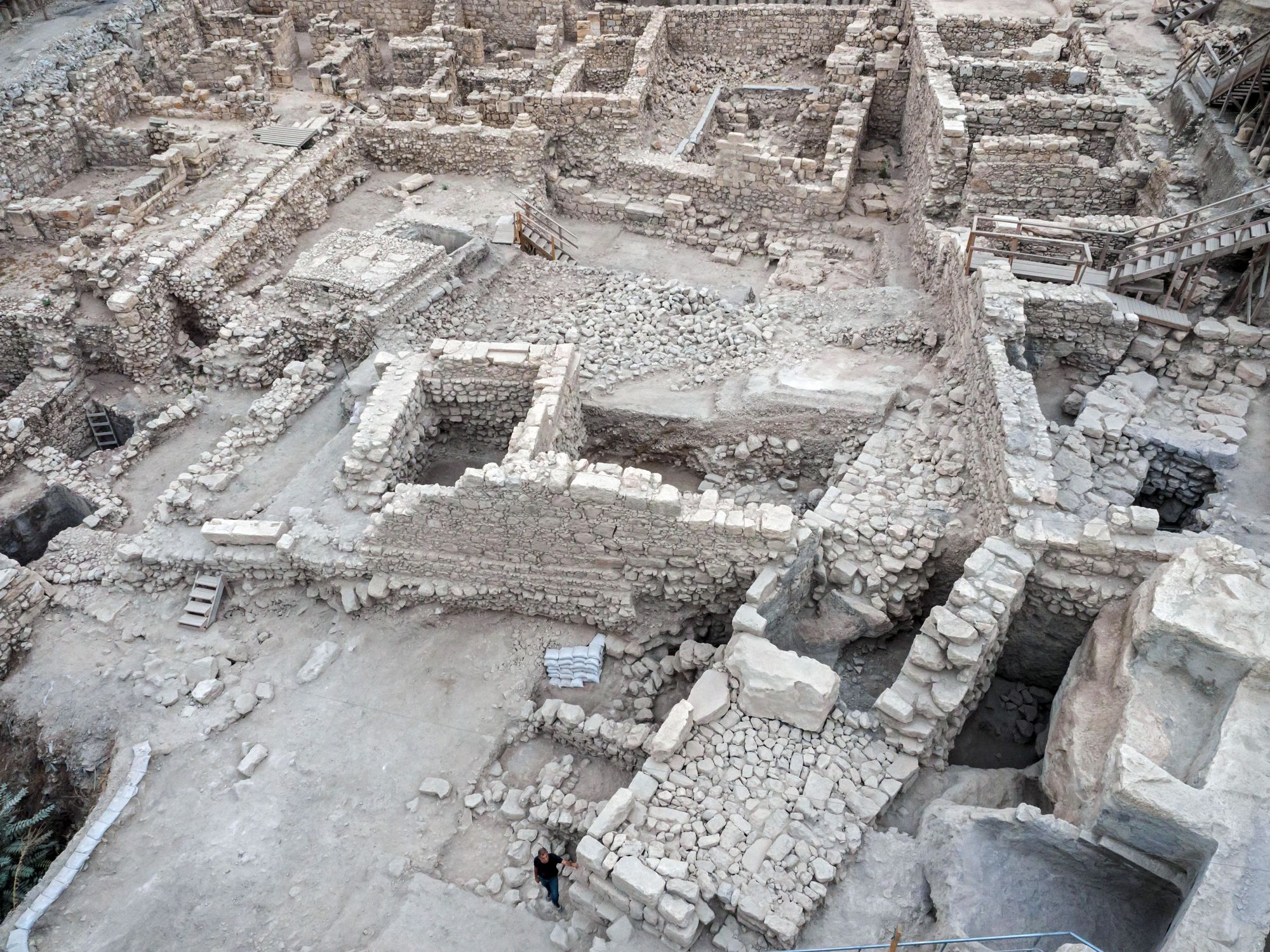 Givati Parking Lot excavation in the City of David. Credit Asaf Peretz,  Courtesy of the Israel Antiquities Authority
