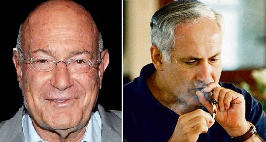 L-R Arnon Milchan, PM Netanyahu case 1000
