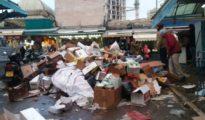 Jerusalem mahane-yehuda is covered in garbage