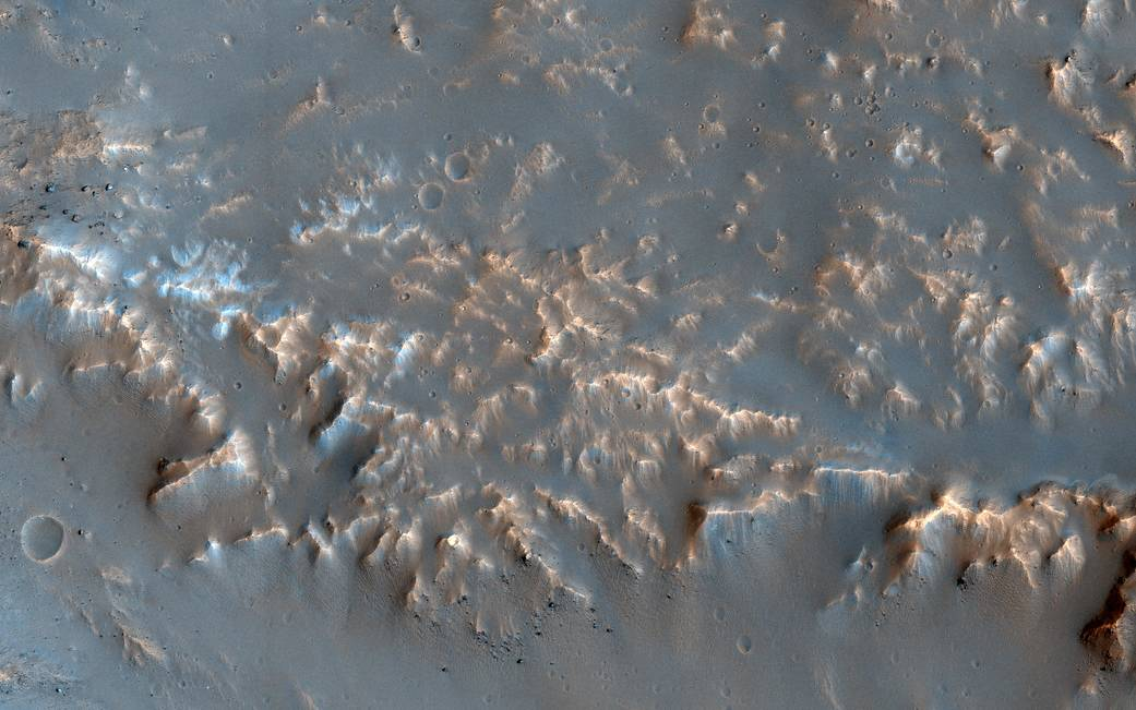 NASA Well-Preserved Impact Ejecta on Mars