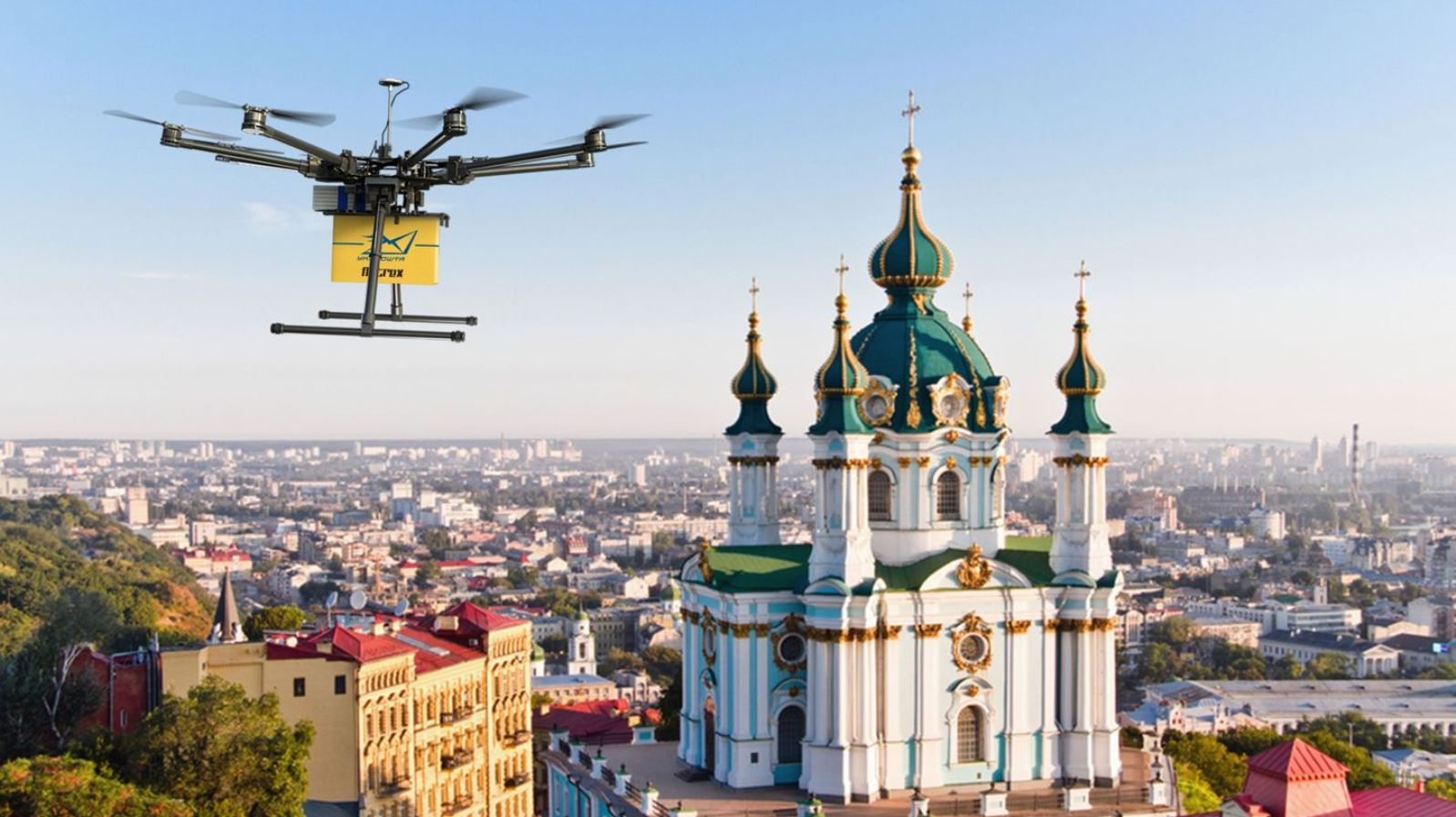 Flytrex Mule personal delivery drone flying in Ukraine. Photo via Start-Up Nation Finder