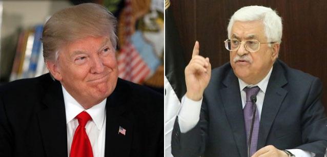 Abbas (L) and Trump