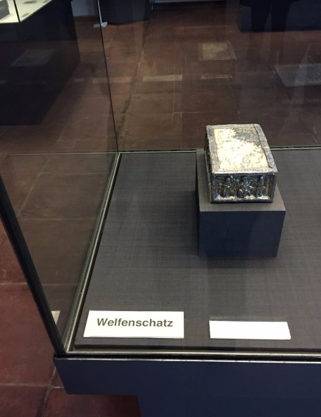 Part of the Welfenschaz collection forced from three Jewish families in Nazi Germany and presented by Hermann Goering to Adolph Hitler in 1935, on display in Berlin. Photo, courtesy Nicholas O'Donnell