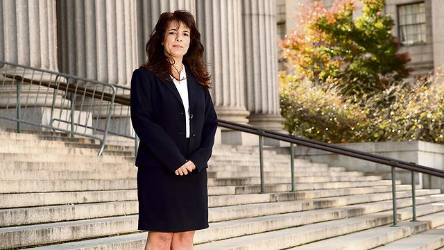 Attorney Nitsana Darshan-Leitner at the New York court, last month (Photo Nadav Neuhas)