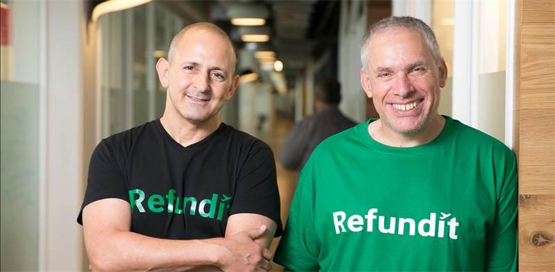 Refundit – L-R Ziv Tirosh, co-founder of Stockton, Uri Levin, co-founder of waze