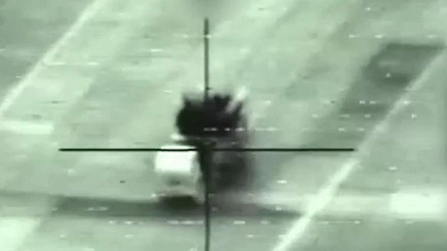 IAF attack on Syrian base (Photo IDF Spokesperson's Unit)