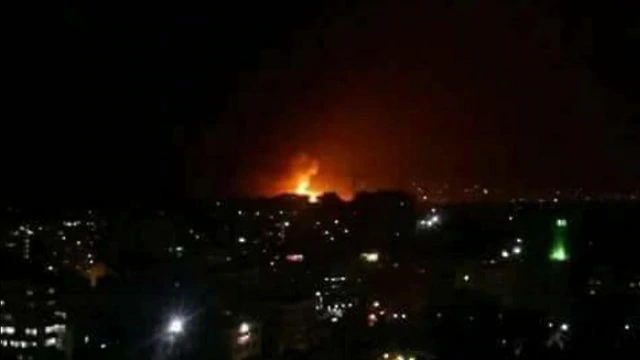 Syria Israel strike air base in Damascus