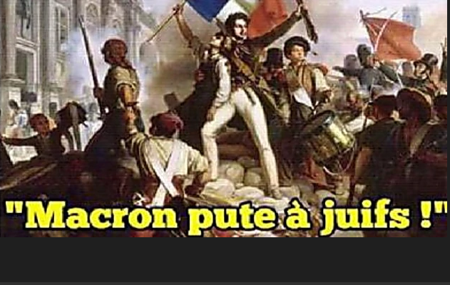 Macron -whore of the Jews