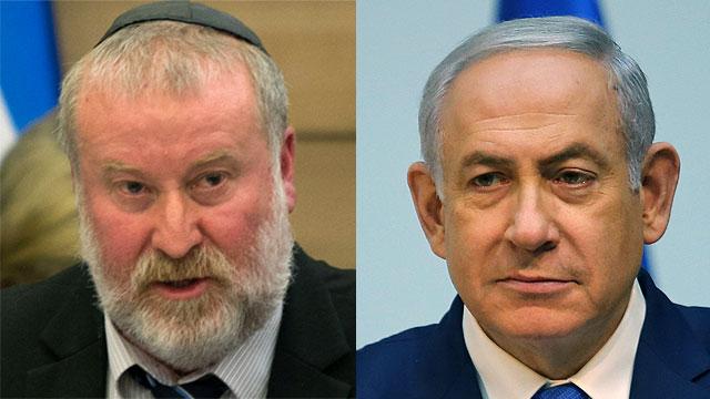 Attorney General Avichai Mandelblit and Prime Minister Benjamin Netanyahu (Photos Amit Shabi, Alex Kolomoisky)